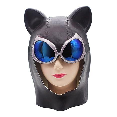 QTMY - Máscara de látex Sexy para Disfraz de Mujer gatuna para ...