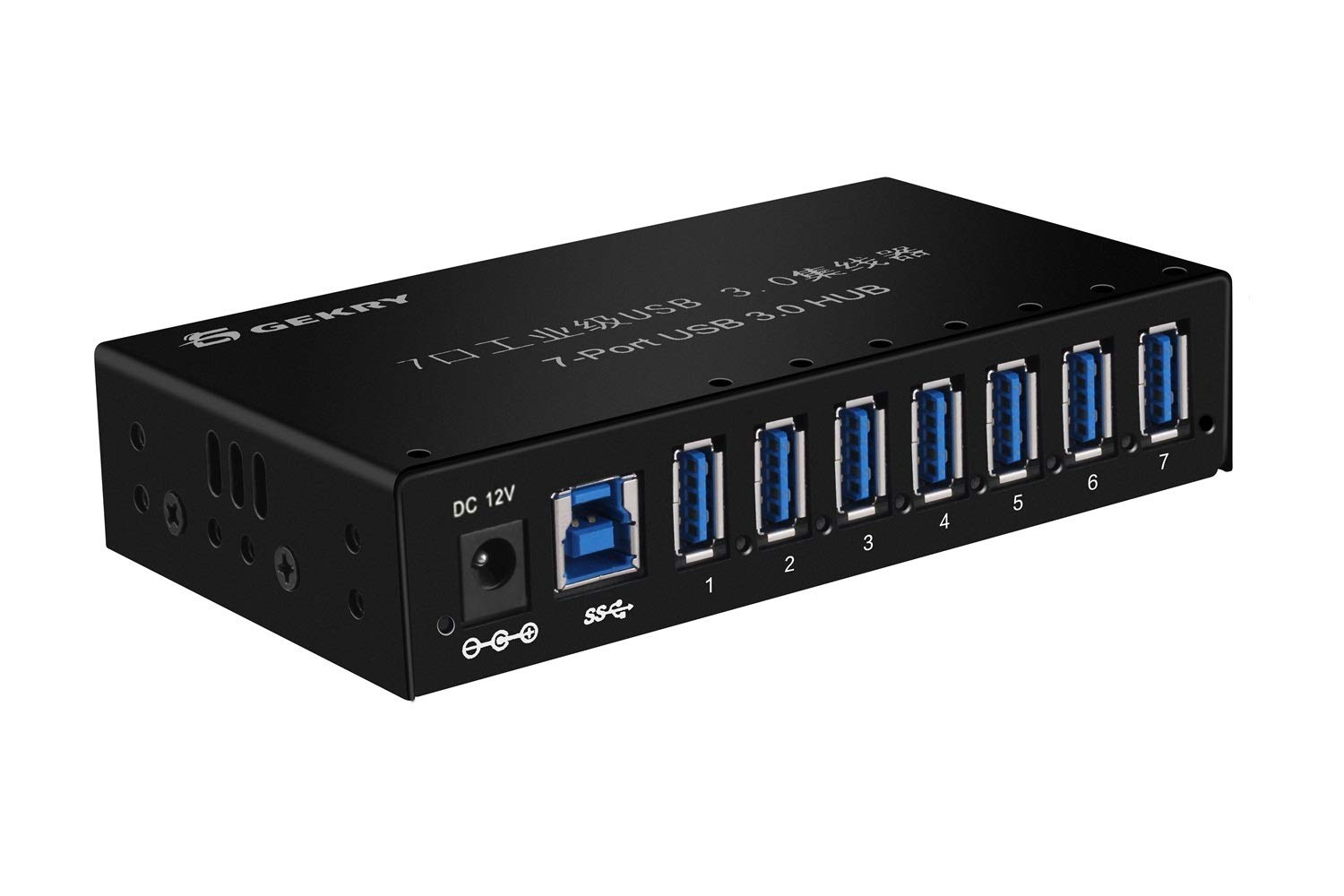 Amazon.com: GEKRY USB 3.0 Hub, Metal Case Mountable 7-Port ...