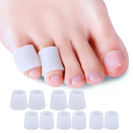 Sumiwish 10x Zehenschutz, Zehenkappen Silikon Für Männer und Frauen Zehenschutz Kleinere Zehen