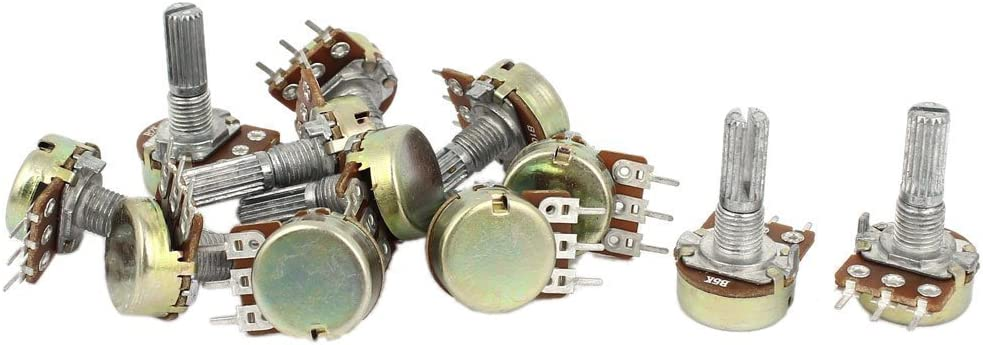 1K 2K 5K 10K OHM Linear Taper Rotary Potentiometer Pot 3 Sets R Potentiometer TOOGOO