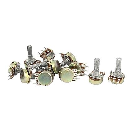 Potenciometro - TOOGOO(R)1K 2K 5K 10K OHM Potenciometro rotatorio de forma conic