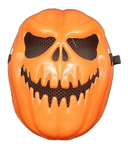 La Vogue Mask Disfraz Máscara de Calabaza de Halloween para Adultos Carnaval 26×22CM Naranja