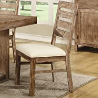 Coaster 105542 Home Furnishings Side Chair (Set of 2), Wire Brushed Nutmeg