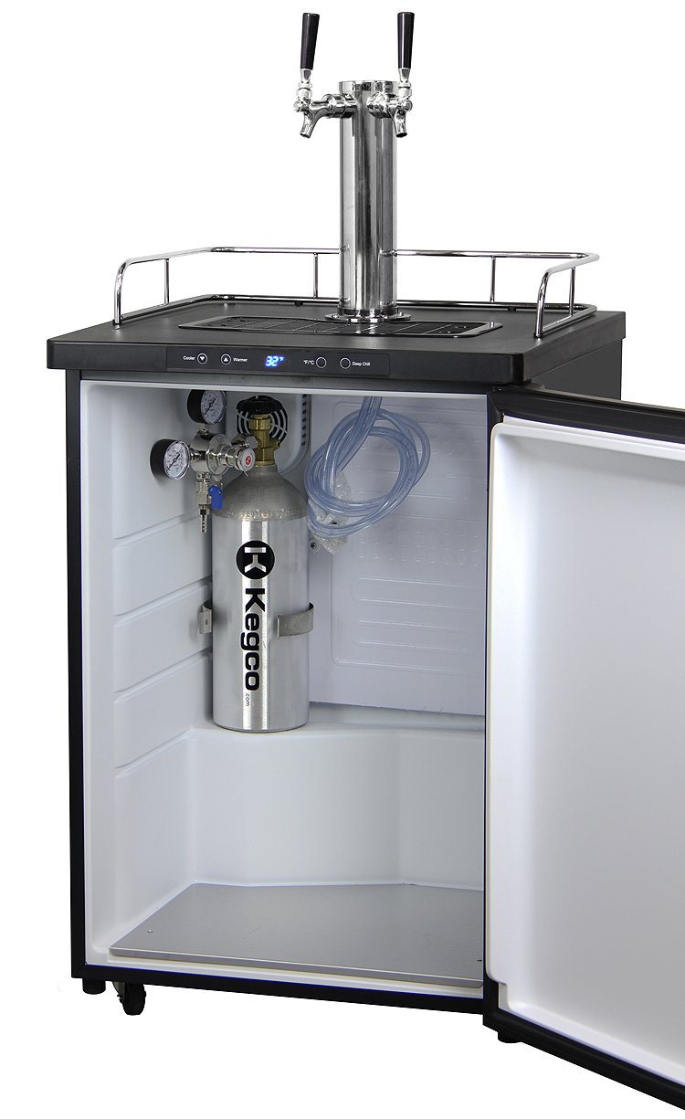 Kegco Full-Size Digital Homebrew Kegerator Dual Faucet Stainless with Ball Lock Keg by Kegco (Image #5)