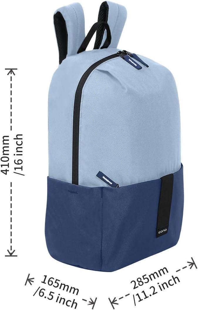 Ideal para el Colegio Senderismo Acampada y Viajes Eono Essentials Mochila Unisex Ultraligera Resistente al Agua Azul Cian 20 L
