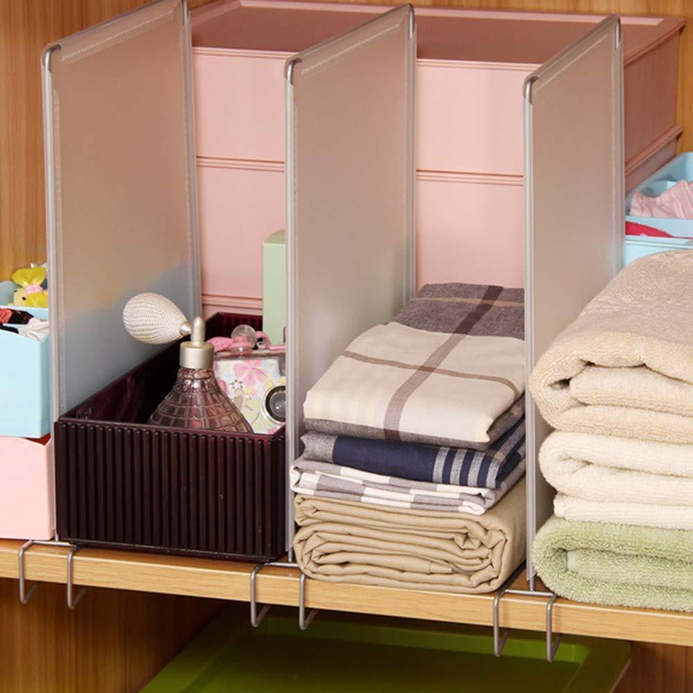 TXYFYP Piezas Closet Divisor Extra/íble Armario Partici/ón Panel PP Closet Divisor L/ínea Estante para para Uso en Dormitorio Cocina 4pcs // Juego Ba/ño Free Size