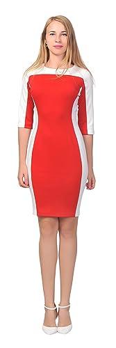 Marycrafts Women's Office Work Slim Pencil Dress Color Block Dresses