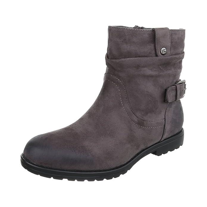 Ital-Design - botas estilo motero Mujer , color marrón, talla 36