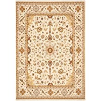 53 x 76 Rectangular Safavieh Area Rug TUS302-1212-5 Ivory/Ivory Color Power Loomed Turkey Tuscany Collection