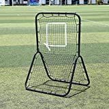 Pitchback Rebound Net, 6 x 4 ft Baseball and Softball Rebounder Net, Portable Multi-Sport Rebounder Pitch Back Net with Adjustable Target