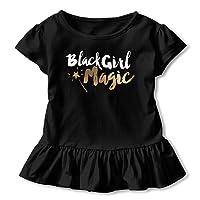 NMDJC CCQ Black Girl Magic Baby Skirts Fashion Kids T Shirt Dress Comfortable Flounces...