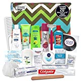 CONVENIENCE KITS Women's Premium Travel Accessories Kit, Travel Size Toiletries, Travel Esentials and Accessories, Travel Toiletry, Accessories for Women, Travel Gifts for Women, 20-Piece Travel Kit