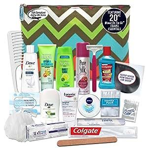 Convenience Kits Women's Premium 20-piece Necessities Travel Kit
