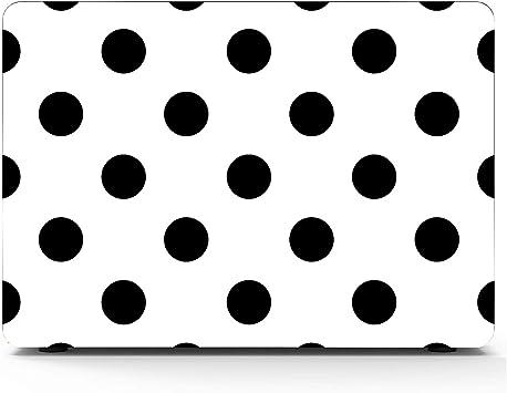 Vector de patrón de Lunares sin Costuras en Blanco y Negro Macbook Air/Pro 11/12/13/15 Pulgadas Funda de plástico Estuche rígido Shell Macbook 15 Estuche para Macbook Apple Computer Cover: Amazon.es: Electrónica