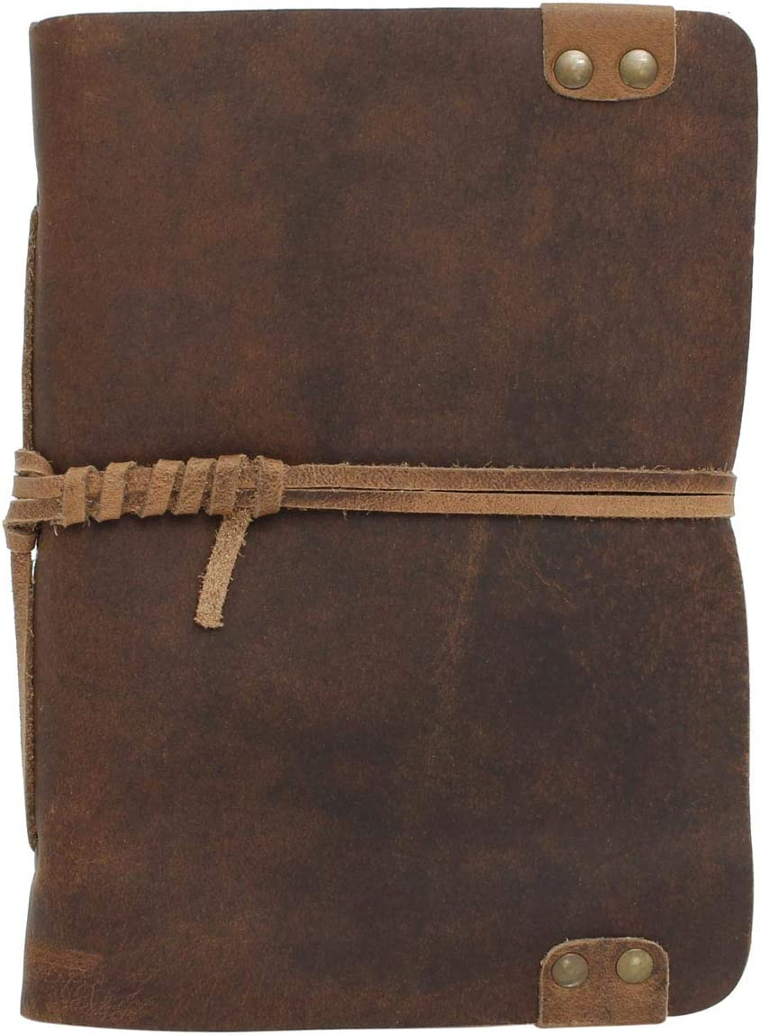 Gusti Leder /'Virginia/' Notizbuch Tagebuch nachfüllbar Seiten