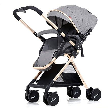 Cochecito Cochecito Bebé Paseante Calesa 2 en 1 Viajar Sistema Con Carrycot Y Niño Asiento Unidad