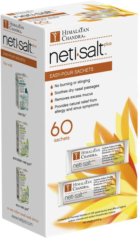 Himalayan Chandra Neti Salt Plus Refill Sachet 60ct