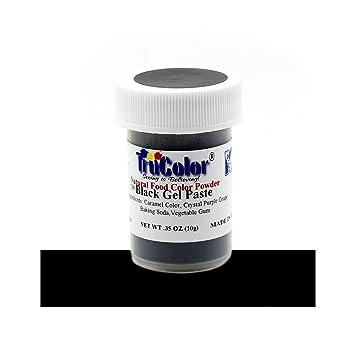 Amazon.com : TruColor Black Natural Gel Paste Powder Food Coloring ...