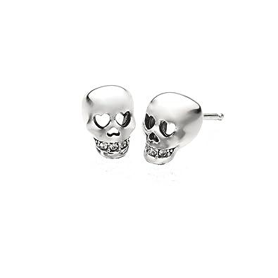 74f651c80 Amazon.com: Chamilia Authentic Love You To Death Skull Earrings 1311 ...