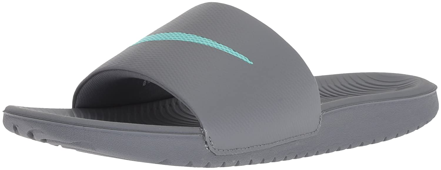 NIKE Women's Kawa Slide Sandal B074T8GF7G 11 B(M) US|Cool Grey/Hyper Turquoise/Cool Grey