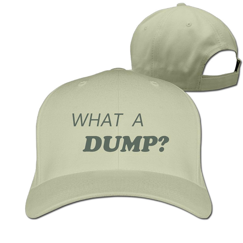 GXGML What A Dump Logo Unisex Fashion Adjustable Pure 100% Cotton Peaked Cap Sports Washed Baseball Hunting Cap Baseball Caps Ash