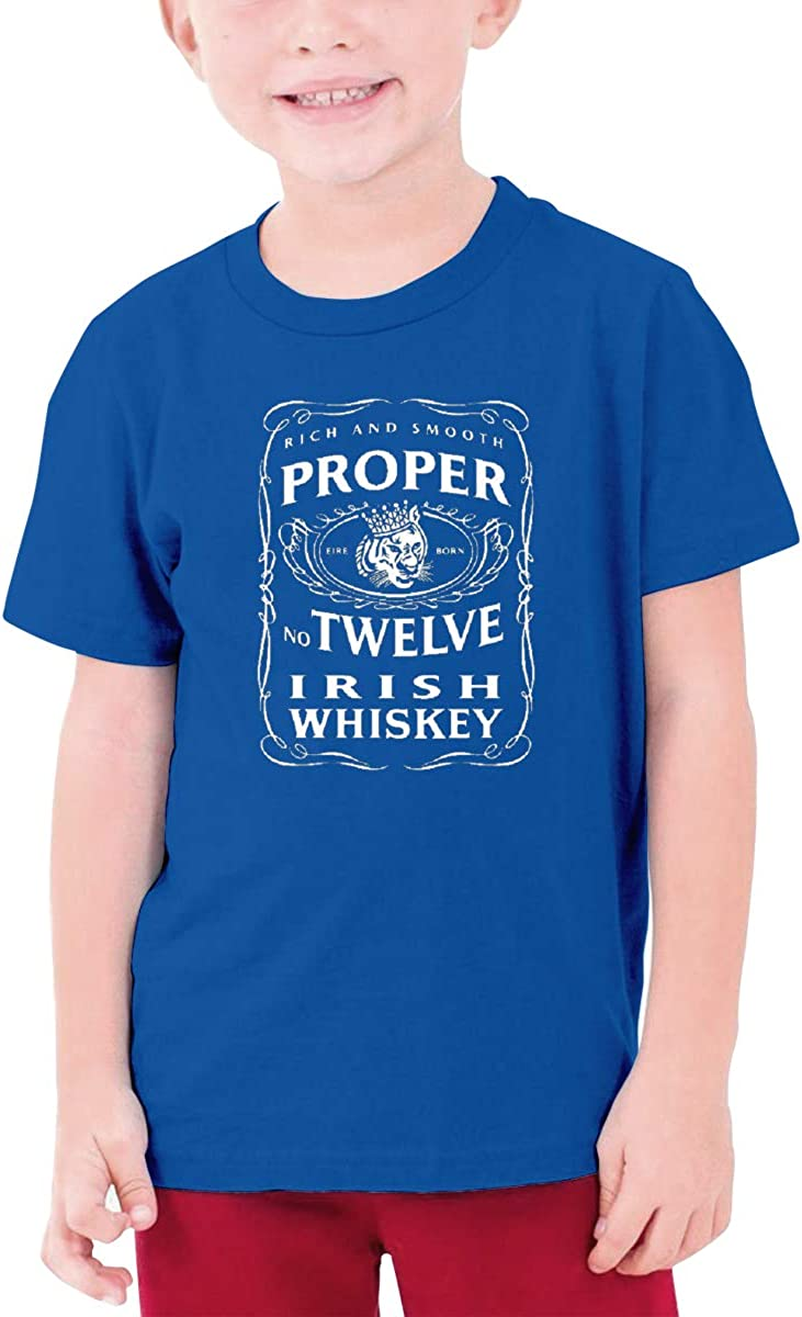 Jaxia Proper/12/Irish/Whiskey/McGregor/Inspired KidsCotton Youth Crewneck T-Shirt,Boys and Girls,White