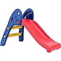 Baby Joy Folding Slide, Indoor First Slide Plastic Play Slide Climber Kids (Ellipse Rail)