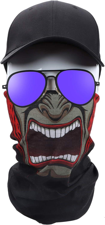 COZISO Bandana for Rave Face Mask Dust Wind UV Sun, Neck Gaiter Tube Mask Headwear, Motorcycle Face Mask