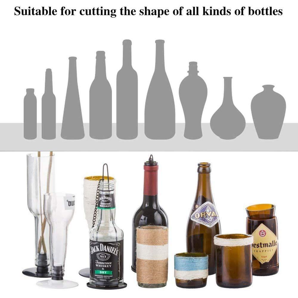 Kalolary Cortador de Botellas de Vidrio, Glass Bottle Cutter Cortador Botellas Vidrio, Herramienta de Corte para Cortar Botellas de Vidrio Cortador de ...