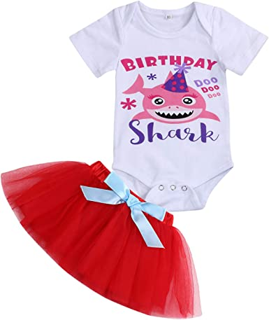 Infant First Birthday Outfit Set Baby Boy Birthday Shark Clothes
