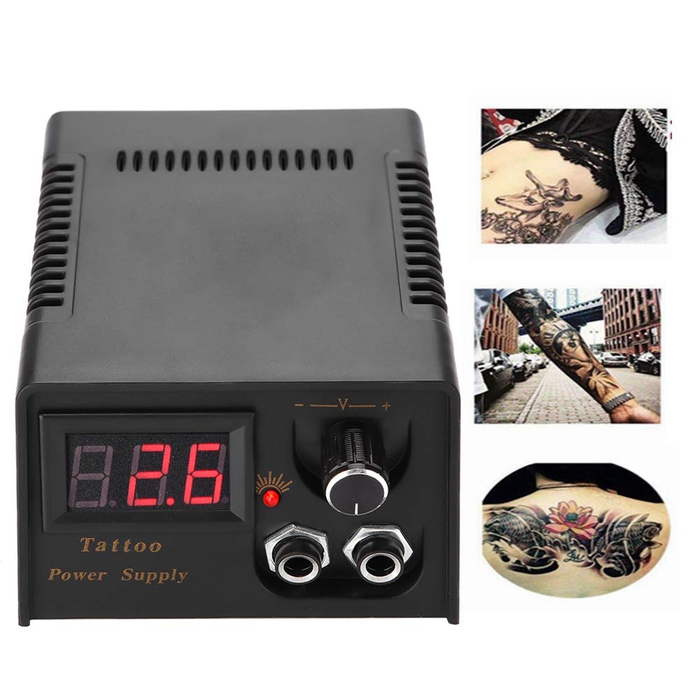 Alimentation pour écran LCD noir tattoo digital accessoires de tatouage pour ensemble de transformateur d'interface d'alimentation double.(Eu)