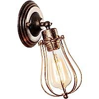Przemysłowy kinkiet w stylu vintage, regulowana lampa ścienna, rustykalny drut, metalowa klatka, kinkiet w stylu Edisona…