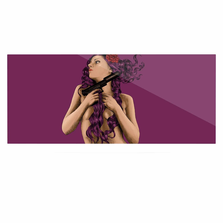 24 x 36 Kess InHouse BarmalisiRTB Keep Yourself Purple People Luxe Rectangle Panel