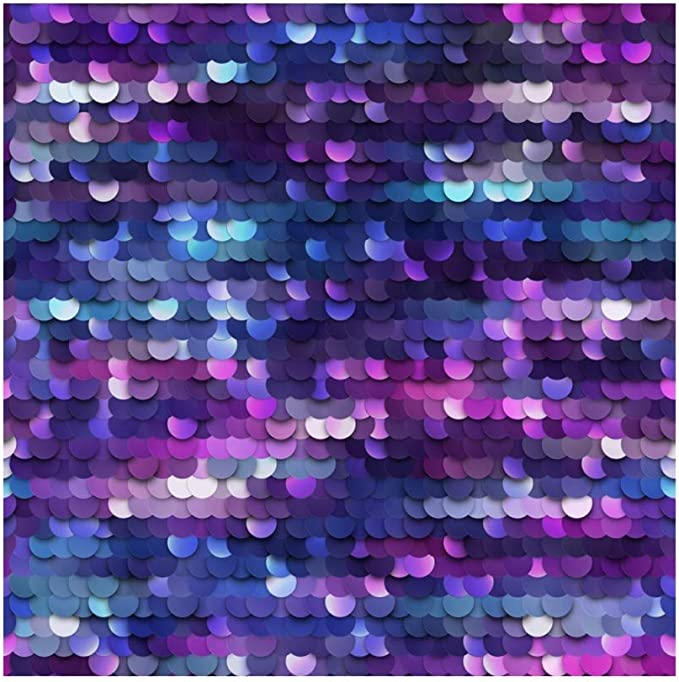 8x12 FT Purple Vinyl Photography Backdrop,Ocean Inspired Fish Flake Like Image with Round Edged Details Art Background for Party Home Decor Outdoorsy Theme Shoot Props