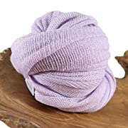"Light Purple Stretch Wrap Newborn Baby Photo Prop Swaddling Fabric, Baby Wrap Photo Props, 20"" x 48"" Swaddle Wraps, Fabric Photography Props, Receiving Blanket, LUX Lavender - CUSTOM PHOTO PROPS"