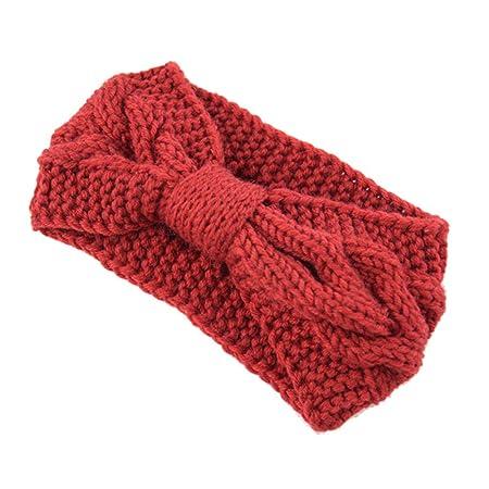 Hunputa Ponytail Headband Womens Winter Knitted Headband Ear Warmer Head Wrap