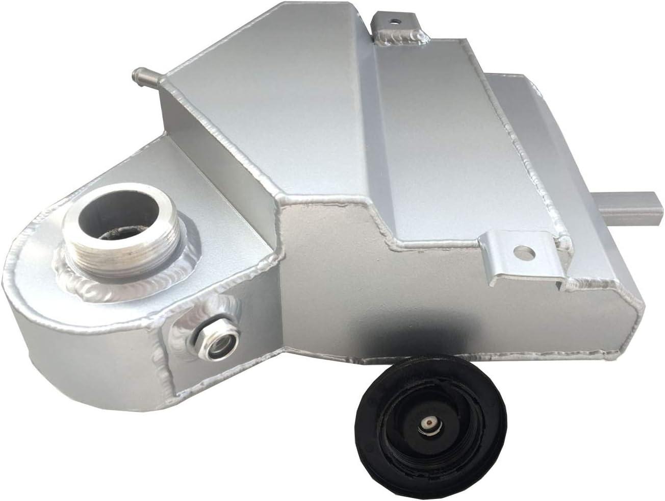 Fits 6.0L Ford F-250 F-350 Powerstroke Diesel Aluminum Coolant Overflow Bottle Reservoir Tank Silver