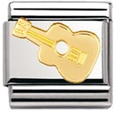 Nomination Composable Classic Music Note Stainless Steel and 18K Gold I8Rtet3Hu