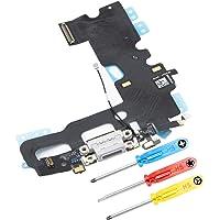 MMOBIEL złącze dokujące kompatybilne z iPhone 7 (biały) port ładowania Flex w zestawie śrubokręt