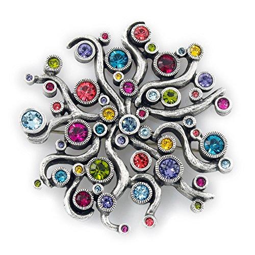Patricia Locke Medusa Pin in Silver, Celebration Color Story by Patricia Locke