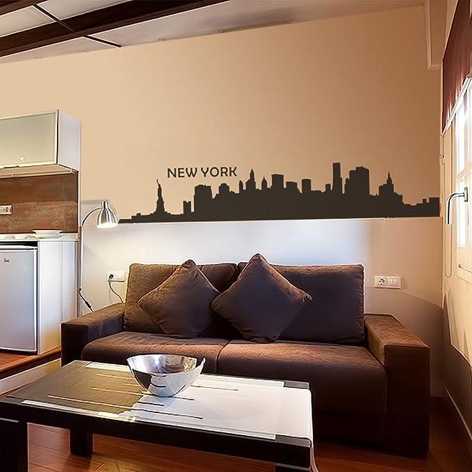 New York City Skyline Silhouette  \u2022 Medium \u2022  Wall Decal Custom Vinyl Art Stickers