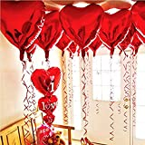 Best Loves With Hearts - BinaryABC Foil Balloons,LOVE Heart Shape Helium Wedding Birthday Review