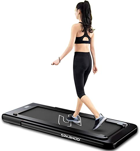 Sparnod Fitness STH-3000 Series (4 HP Peak) 2 in 1 Foldable Treadmill for Home Cum Under Desk Walking Pad -...