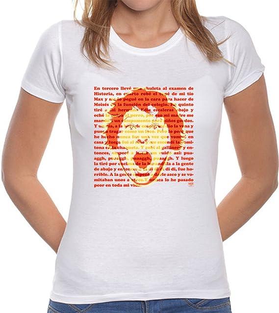 latostadora Camiseta Gordi (Los Goonies) - Camiseta Mujer Corte clásico Blanco Talla L: Amazon.es: Ropa y accesorios