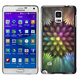 Planetar® ( Colorful Feathers ) Samsung Galaxy Note 4 IV / SM-N910F / SM-N910K / SM-N910C / SM-N910W8 / SM-N910U / SM-N910G Fundas Cover Cubre Hard Case Cover