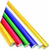 Ci Lot de 6 rouleaux de papier cadeau métallisé Rouge/vert/violet/argenté/doré 50 x 70 cm