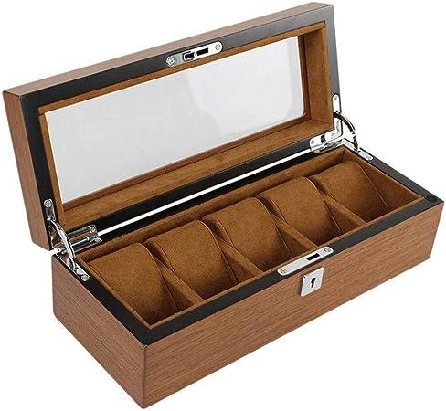 GOVD Caja Relojes Hombre Madera Estuche relojero para almacenar Relojes, para Relojes 5: Amazon.es: Hogar