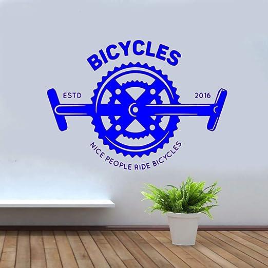 yaoxingfu Diseño Creativo Tienda de Bicicletas Vinilo Pegatina de ...