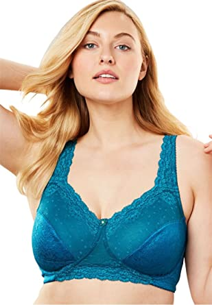 d940dba9ed Comfort Choice Women s Plus Size Sidewire Lace Bra at Amazon Women s ...