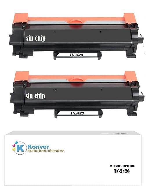 2 Toner Compatible TN-2420, TN2420 para Impresora Brother DCP ...